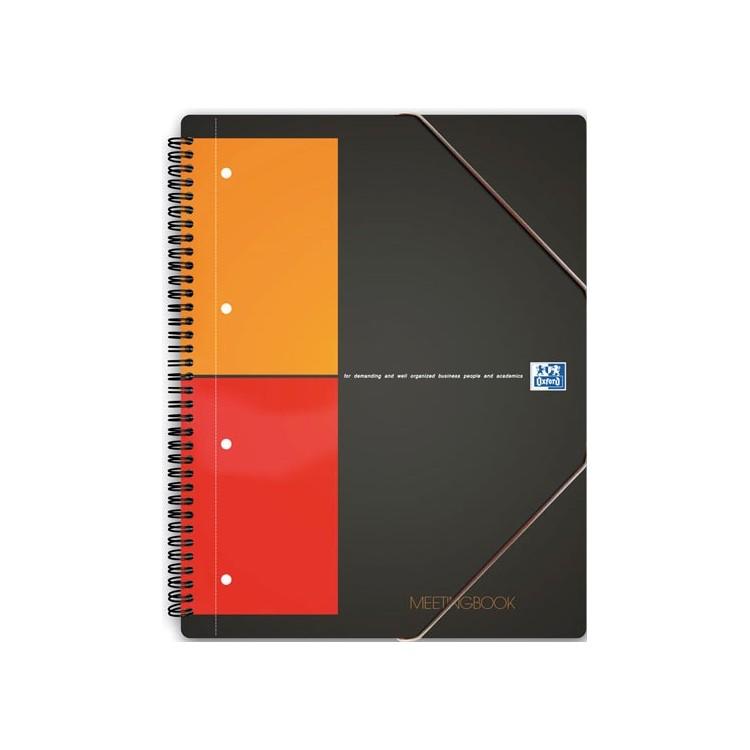 Caiet A4+ cu spira 80 file matematica coperti carton, OXFORD Meetingbook