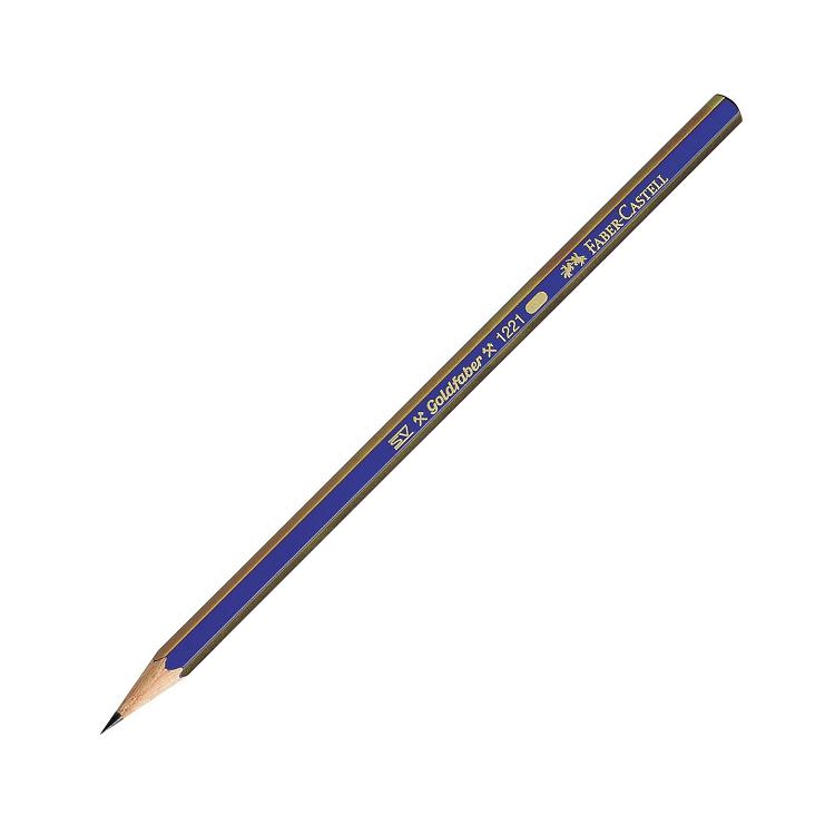 Creion grafit 6B, FABER-CASTELL Goldfaber 1221