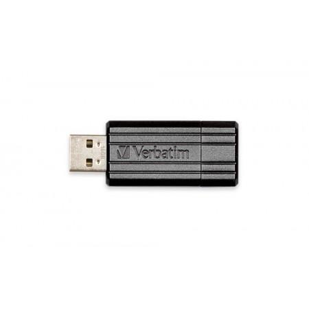 Memorie USB2.0 16GB neagra, VERBATIM Pinstripe