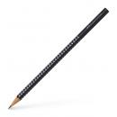 Creion grafit B corp negru, FABER-CASTELL Grip Sparkle