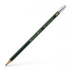 Creion grafit B cu radiera, FABER-CASTELL CASTELL 9000