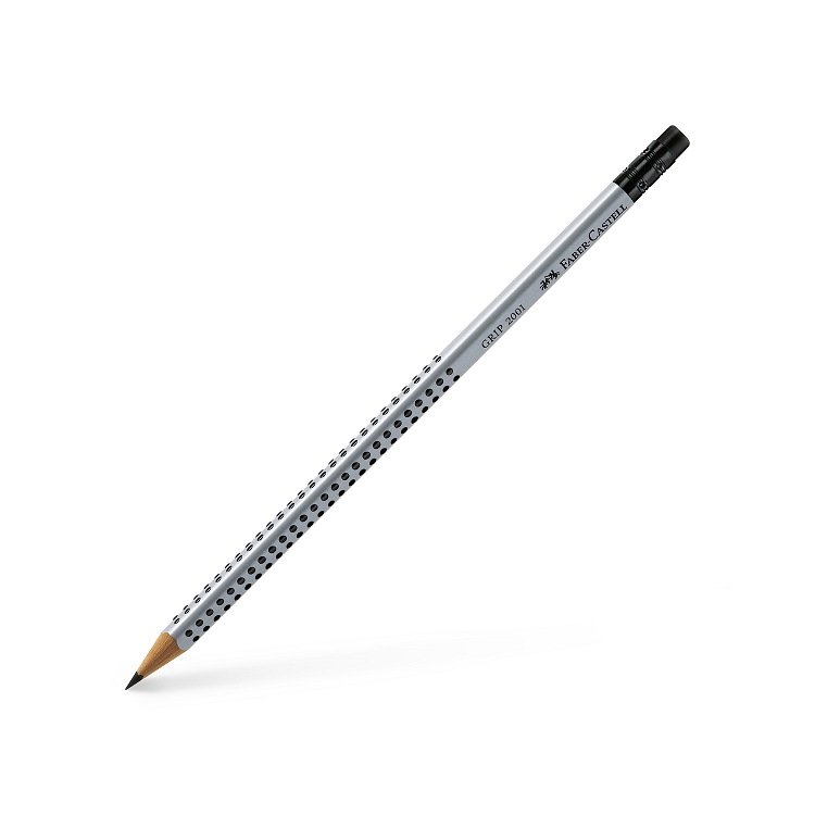 Creion grafit B cu radiera, FABER-CASTELL Grip 2001