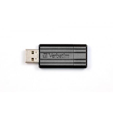 Memorie USB2.0 32GB neagra, VERBATIM Pinstripe
