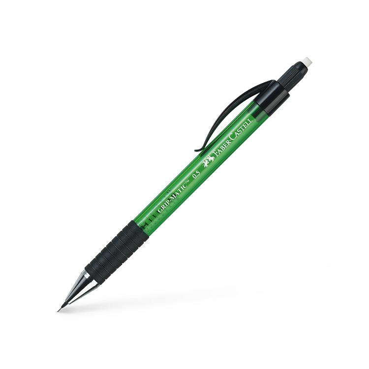 Creion mecanic 0.5mm corp verde, FABER-CASTELL Grip-Matic 1375