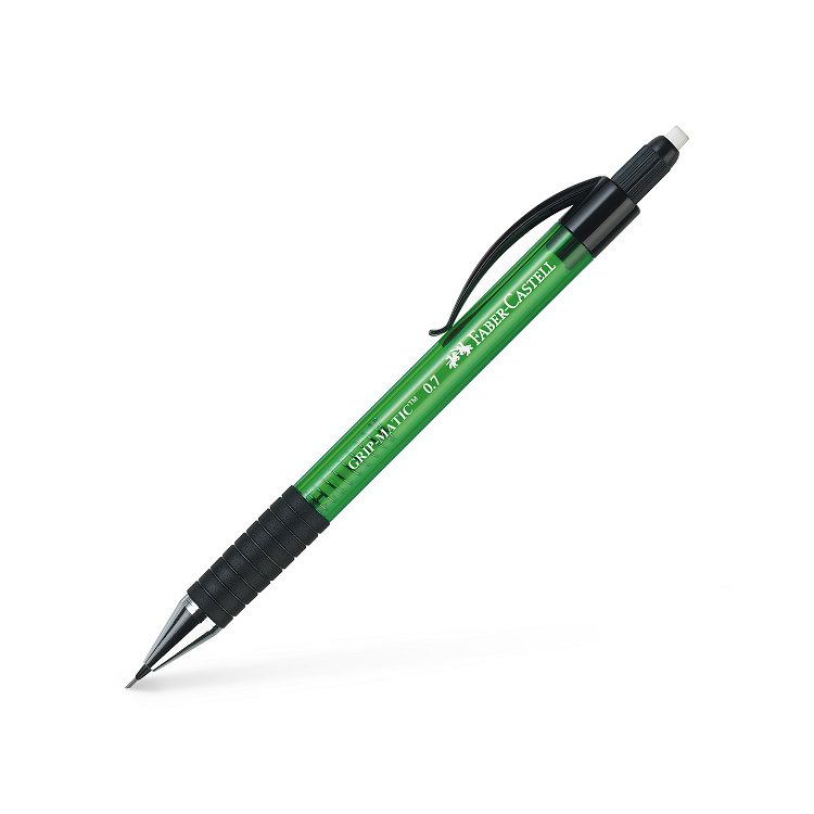 Creion mecanic 0.7mm corp verde, FABER-CASTELL Grip-Matic 1377