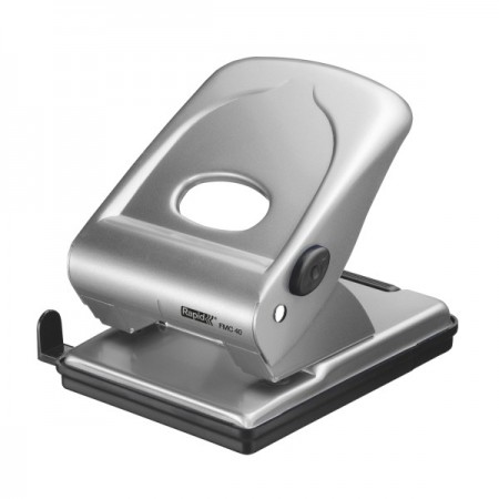 Perforator 40 coli metalic argintiu, RAPID FMC40