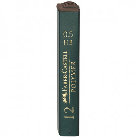 Mina creion 0.5mm HB Polymer 12 buc/set, FABER-CASTELL