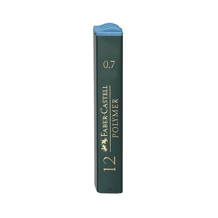 Mina creion 0.7mm 2B Polymer 12 buc/set, FABER-CASTELL