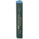 Mina creion 0.7mm B Polymer 12 buc/set, FABER-CASTELL