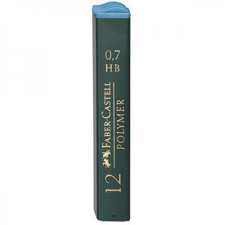 Mina creion 0.7mm HB Polymer 12 buc/set, FABER-CASTELL