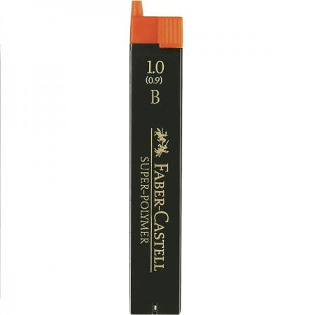 Mina creion 1.0mm B Super-Polymer 12 buc/set, FABER-CASTELL