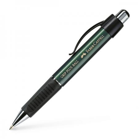 Pix cu mecanism albastru corp verde, FABER-CASTELL Grip Plus 1407