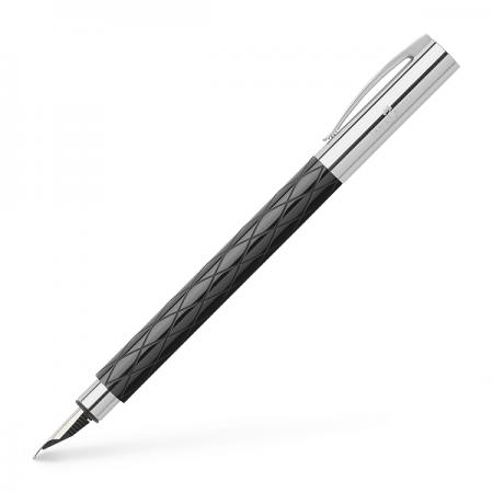 Stilou de lux F corp negru, FABER-CASTELL Ambition Rhombus