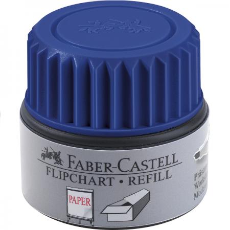 Refill marker flipchart albastru, FABER-CASTELL Grip