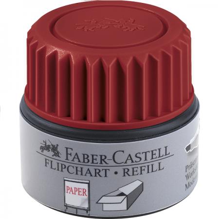 Refill marker flipchart rosu, FABER-CASTELL Grip