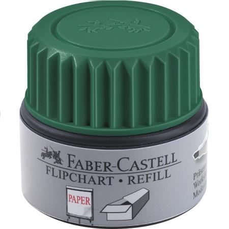 Refill marker flipchart verde, FABER-CASTELL Grip