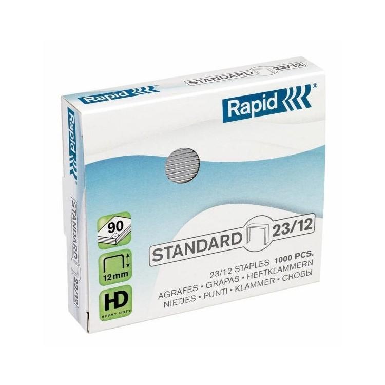 Capse 23/12 1000 buc/cut, RAPID Standard