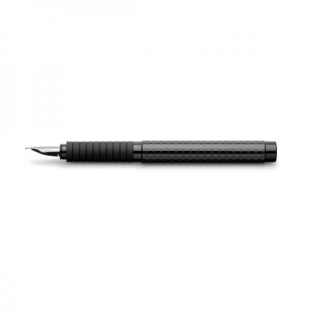 Stilou de lux F corp negru CARBON, FABER-CASTELL Basic Black