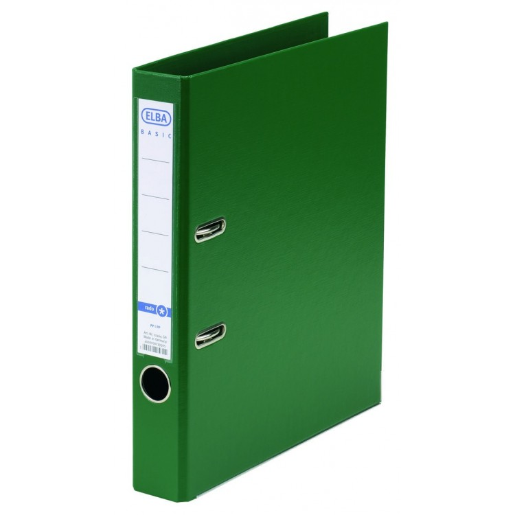 Biblioraft dublu plastifiat 5cm verde, ELBA Rado Basic