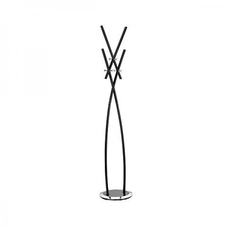 Cuier metalic negru 182cm cu 6 agatatori, ALCO Design
