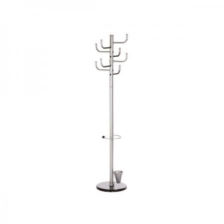 Cuier metalic argintiu 172cm cu 8 agatatori, ALCO