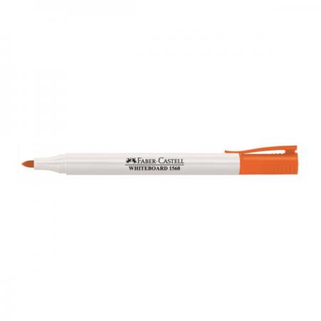 Marker whiteboard portocaliu, FABER-CASTELL Slim 1560