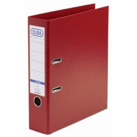 Biblioraft dublu plastifiat 8cm rosu, ELBA Rado Basic