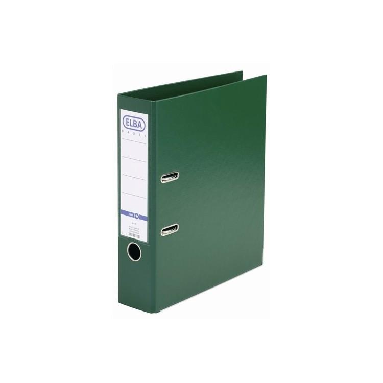 Biblioraft dublu plastifiat 8cm verde, ELBA Rado Basic