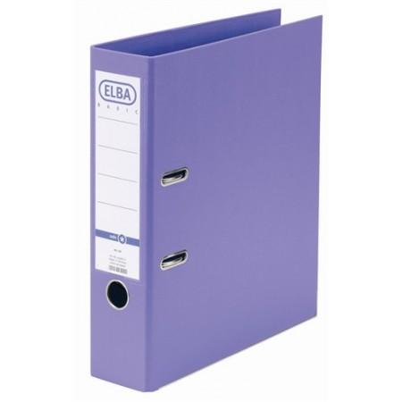 Biblioraft dublu plastifiat 8cm violet, ELBA Rado Basic