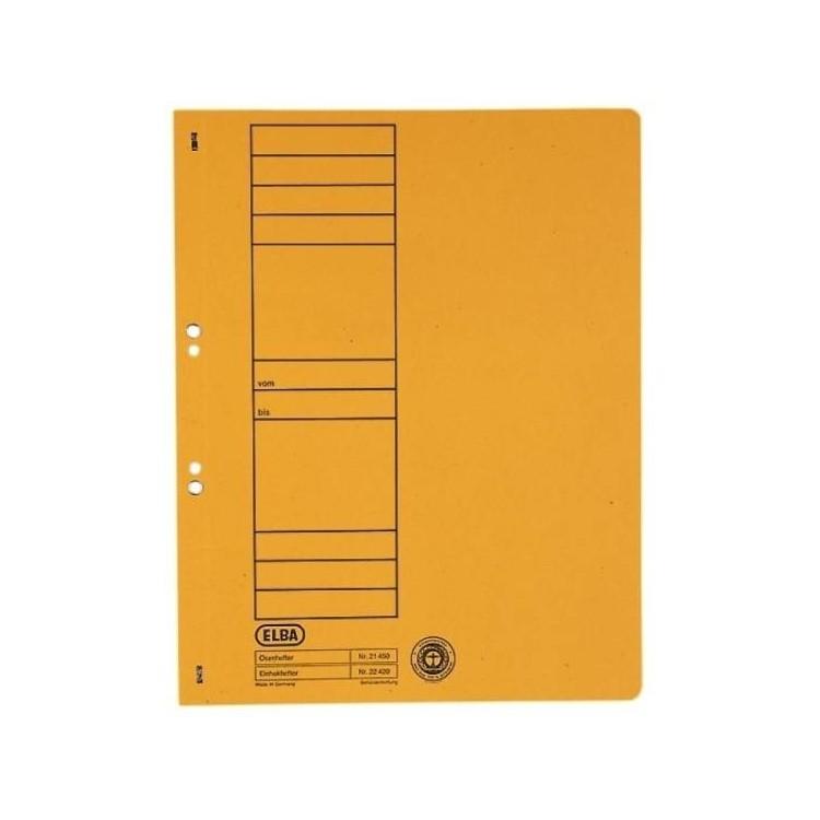 Dosar carton cu capse 1/1 galben, ELBA