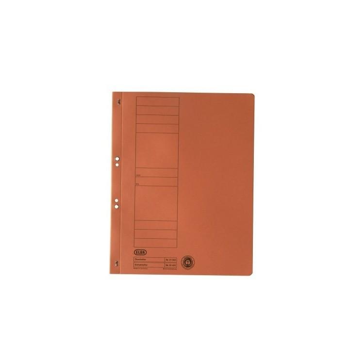 Dosar carton cu capse 1/1 portocaliu, ELBA