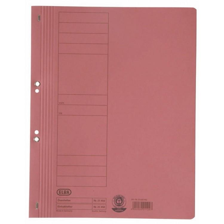 Dosar carton cu capse 1/1 rosu, ELBA