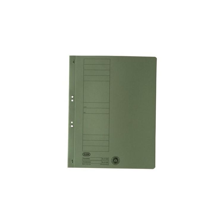 Dosar carton cu capse 1/1 verde, ELBA