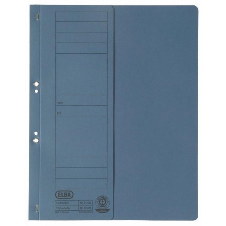 Dosar carton cu capse 1/2 albastru, ELBA