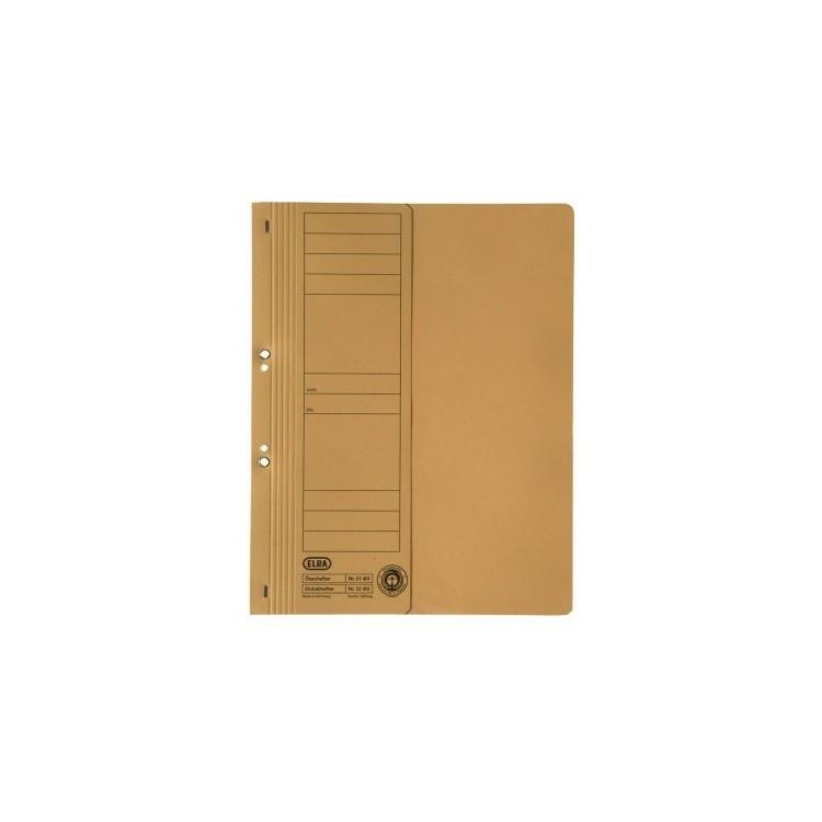 Dosar carton cu capse 1/2 galben, ELBA