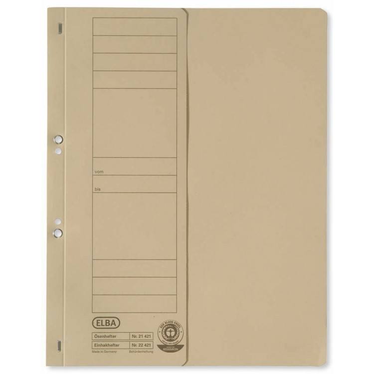 Dosar carton cu capse 1/2 kraft, ELBA