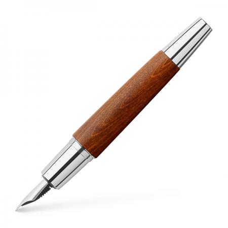 Stilou de lux M corp maro deschis, FABER-CASTELL E-motion Pearwood