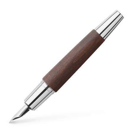 Stilou de lux M corp maro inchis, FABER-CASTELL E-motion Pearwood