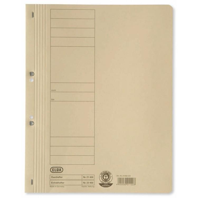 Dosar carton cu capse 1/1 kraft, ELBA