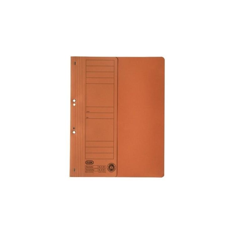 Dosar carton cu capse 1/2 portocaliu, ELBA
