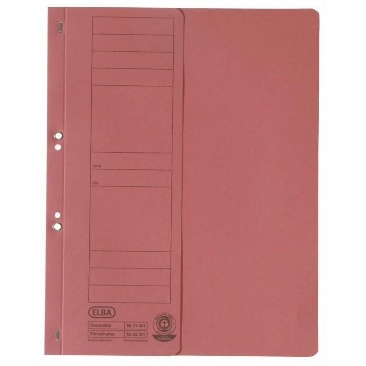 Dosar carton cu capse 1/2 rosu, ELBA