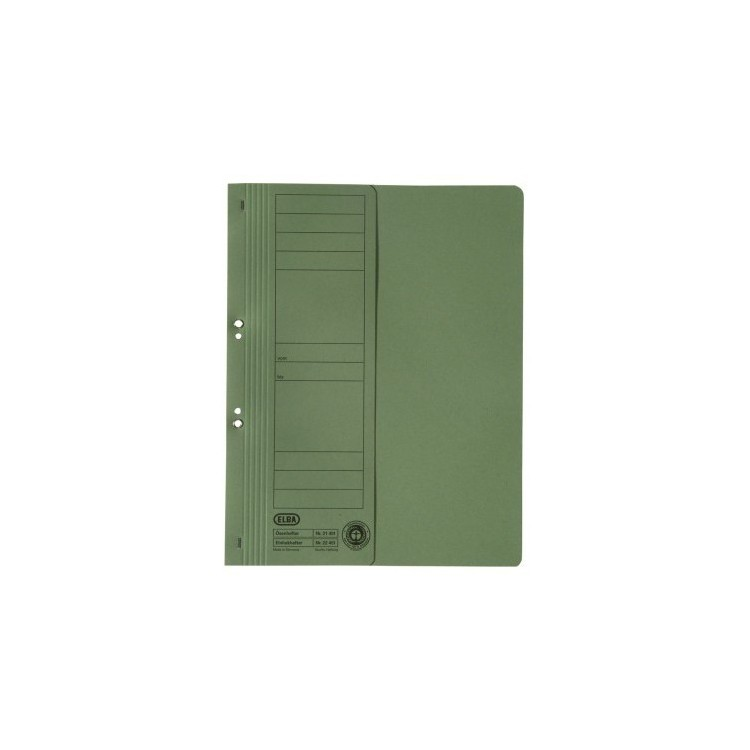 Dosar carton cu capse 1/2 verde, ELBA
