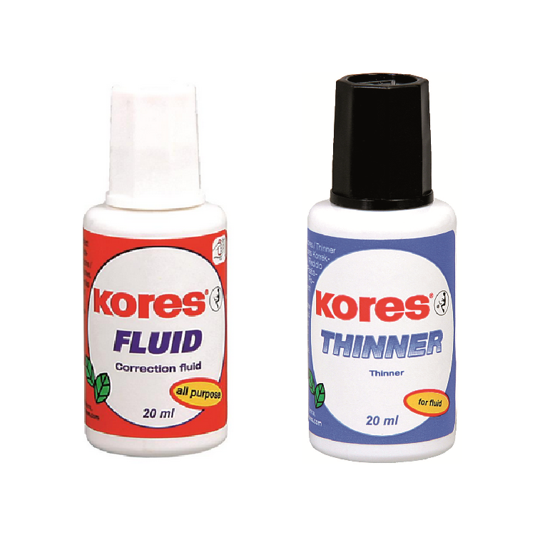 Fluid corector + solvent 2x20ml/set, KORES