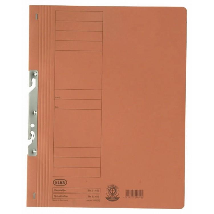 Dosar carton de incopciat 1/1 portocaliu, ELBA