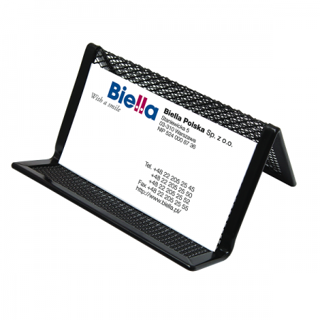 Suport carti de vizita plasa metalica negru, Q-CONNECT