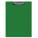 Clipboard dublu A5 PVC verde, Q-CONNECT