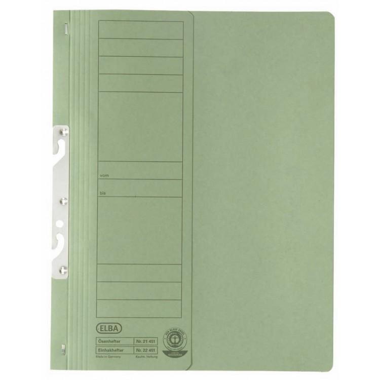Dosar carton de incopciat 1/1 verde, ELBA