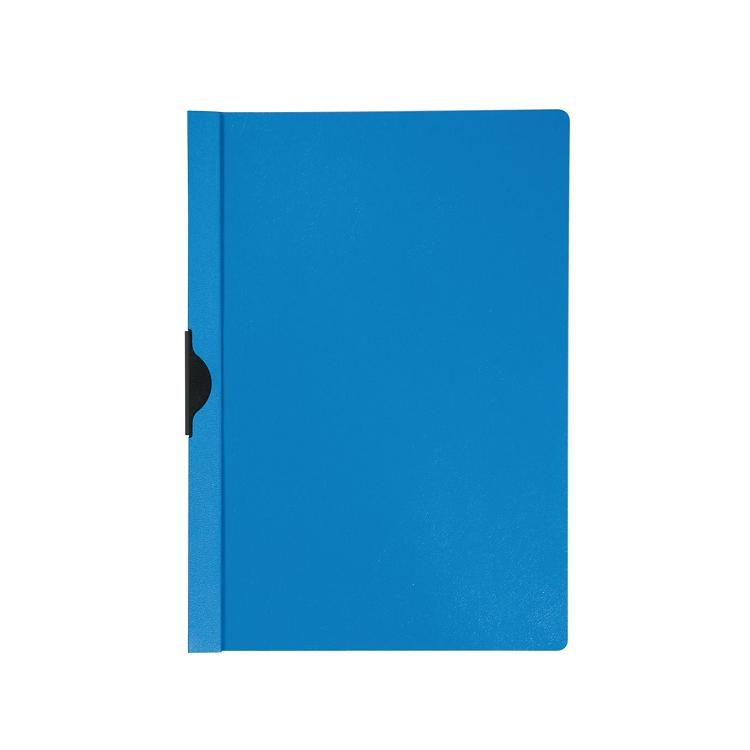 Dosar plastic cu clema metalica albastru, BIELLA
