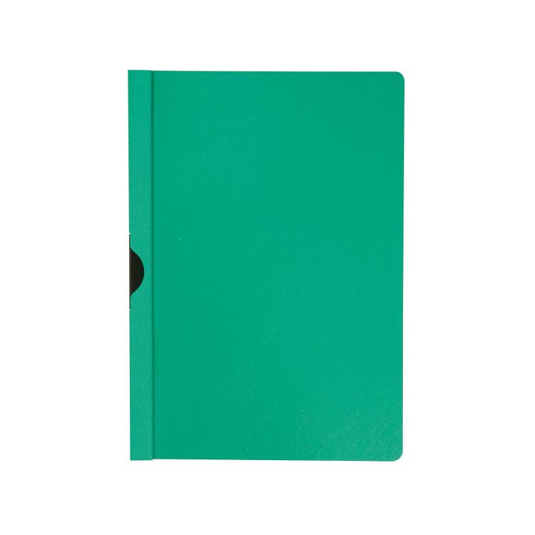 Dosar plastic cu clema metalica verde, BIELLA