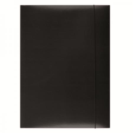 Mapa carton cu elastic 300g/mp neagra, DONAU